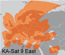 Eutelsat Ka band Satellite - Ka Sat at 9° East